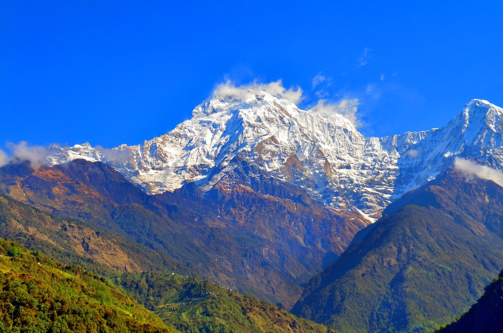 Annapurna South from Landruk