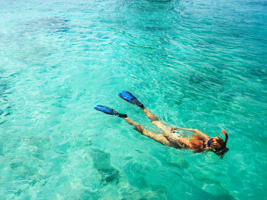 Snorkel in the crystal clear waters