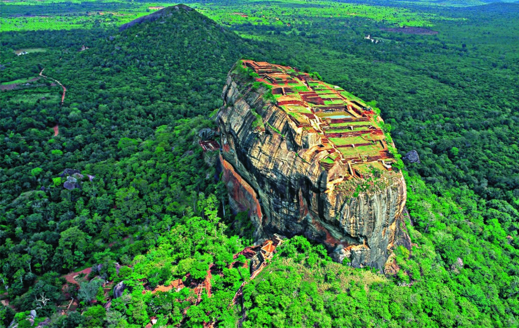 The rock fortress at Sigiriya (Lion Rock) is considered by Sri Lankans to be the Eighth Wonder of the World.