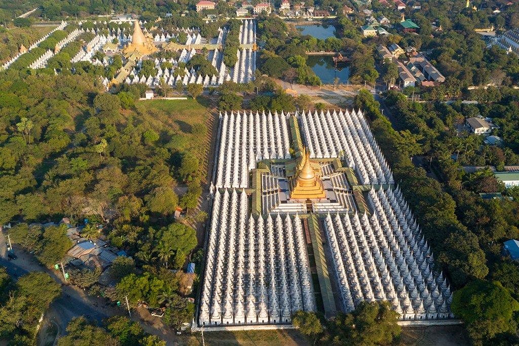 Kuthodaw Pagoda surrounded by 729 shrines