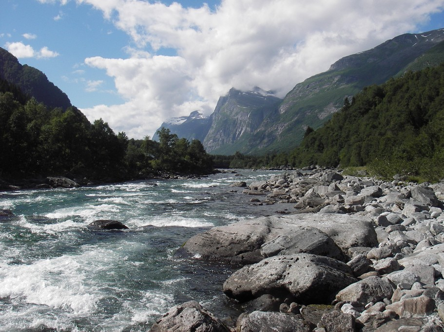 The roaring Driva river in Northern norway