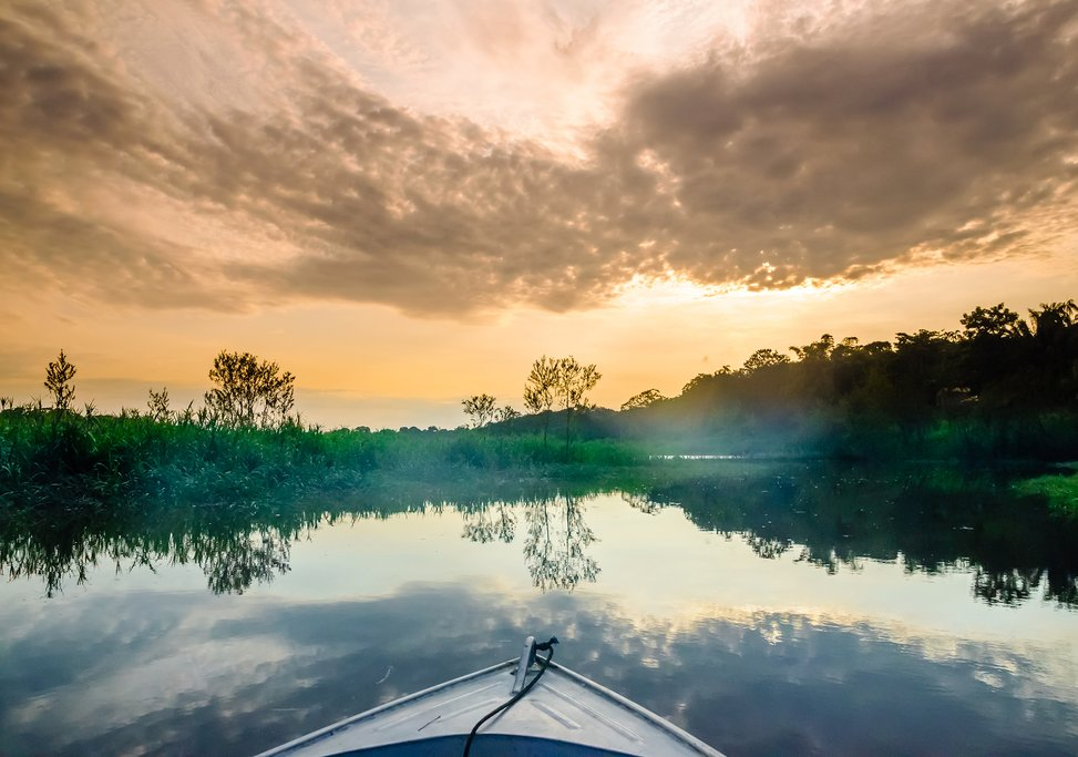 Take a boat excursion in the Amazon River.