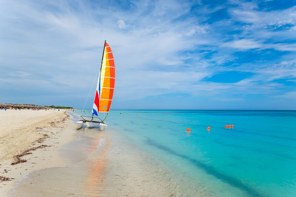 Sailboat on the beach in Varadero