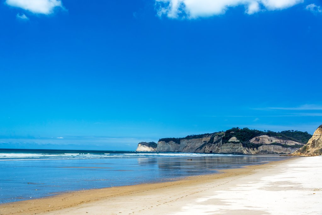 Ecuador's Northern Coastal beaches, such as this at Canoa, are full of beautiful sandy expanses