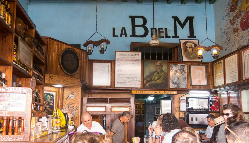 The legendary La Bodeguita del Medio, Cuba's most famous bar