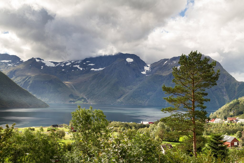 Drive to villages along the fjord.