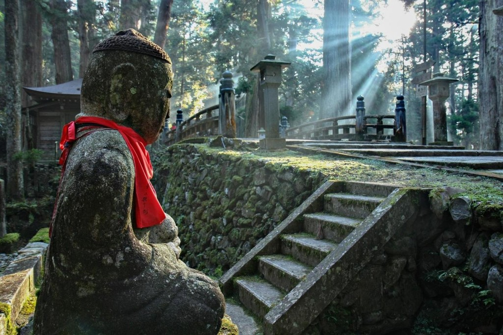The beautiful Okunoin Cemetery on Mount Koya
