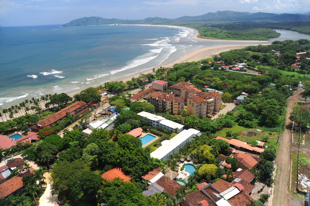 Aerial view of downtown Tamarindo.