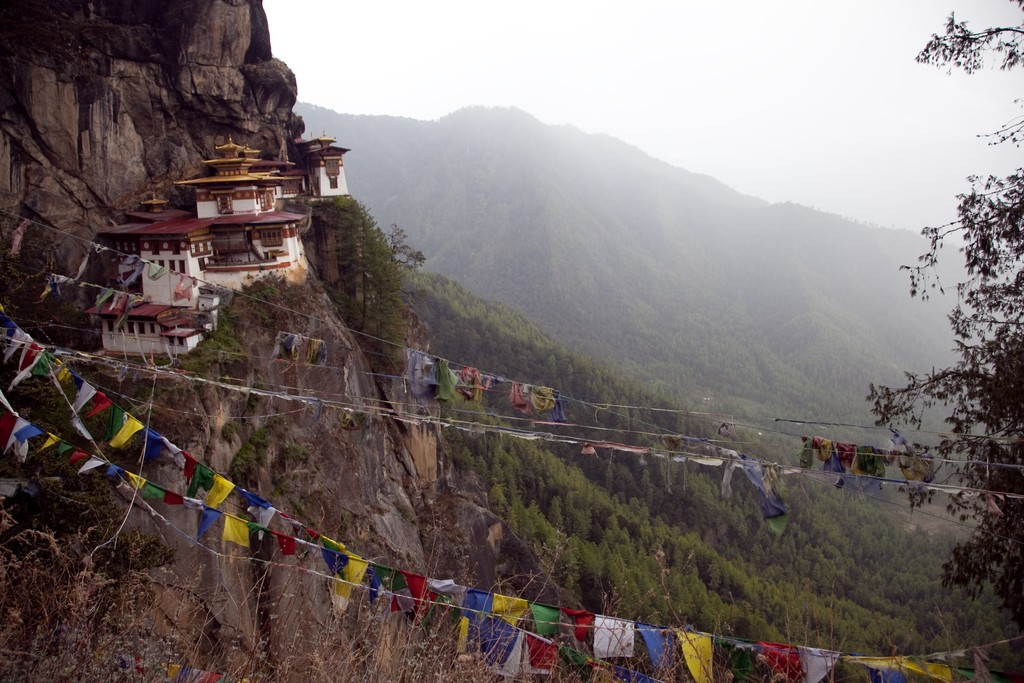 View of Tiger's Nest Monastery
