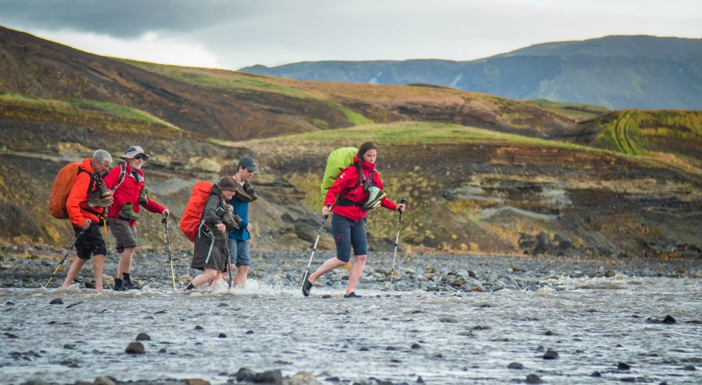 Numerous rivers wind through Iceland's landscapes, fed by glaciers on high mountains