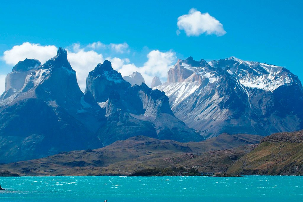 The stunning Andes above the Lake District