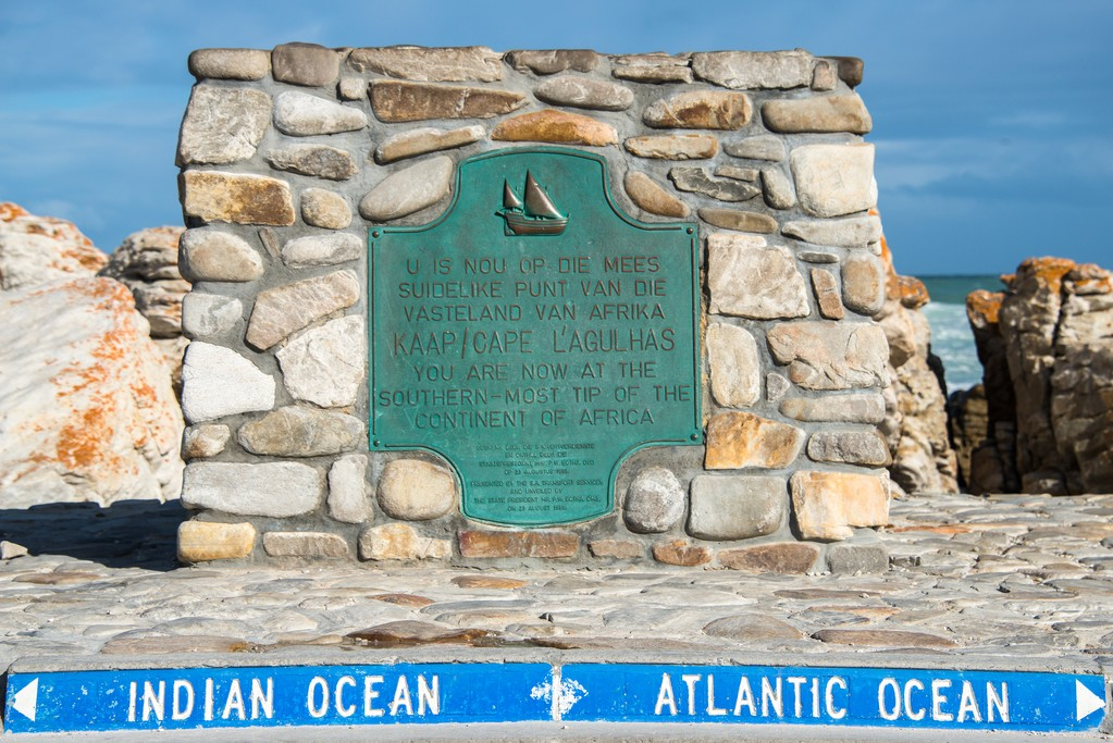 Cape Agulhas, where the Indian and Atlantic Oceans meet