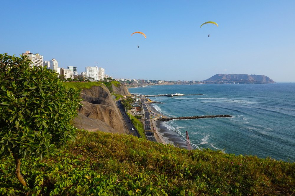Located on the west coast of Peru, Lima boasts spectacular views of the Pacific Ocean