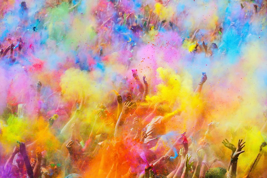 Enjoy the colorful festival of Holi, which celebrates the arrival of spring