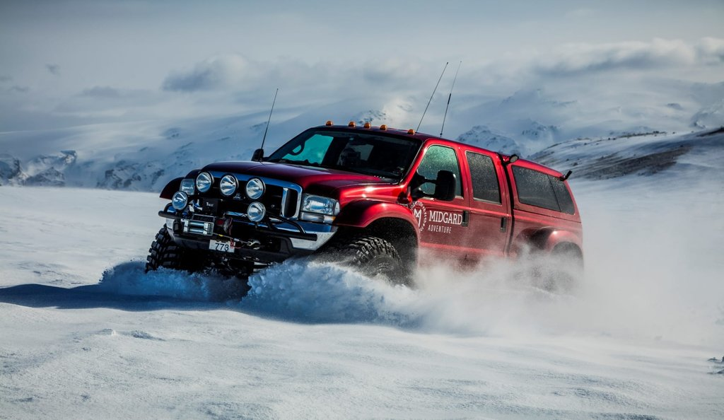 Explore the incredible scenery of Iceland with a specially adapted all-terrain vehicle