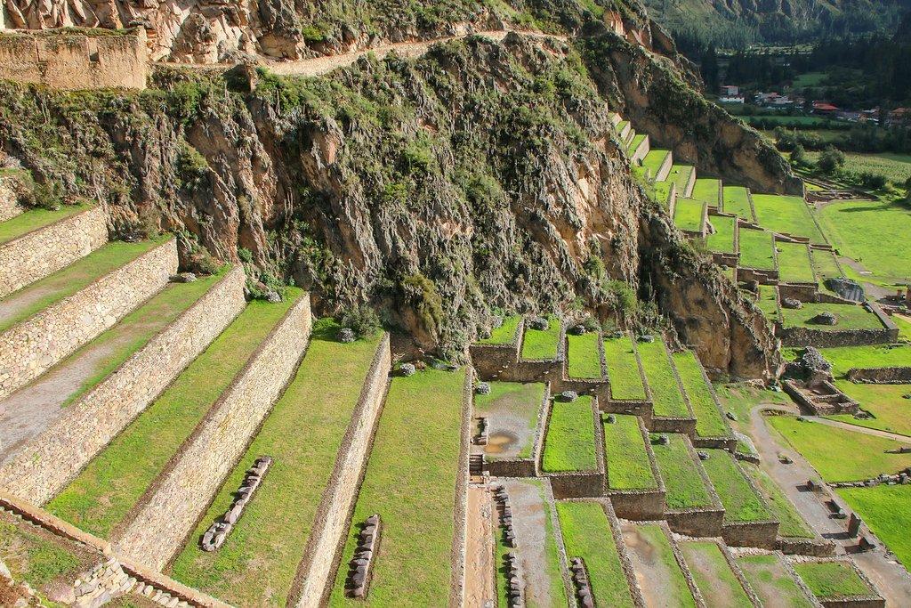 Ruins of Inca Terraces in Ollantaytambo