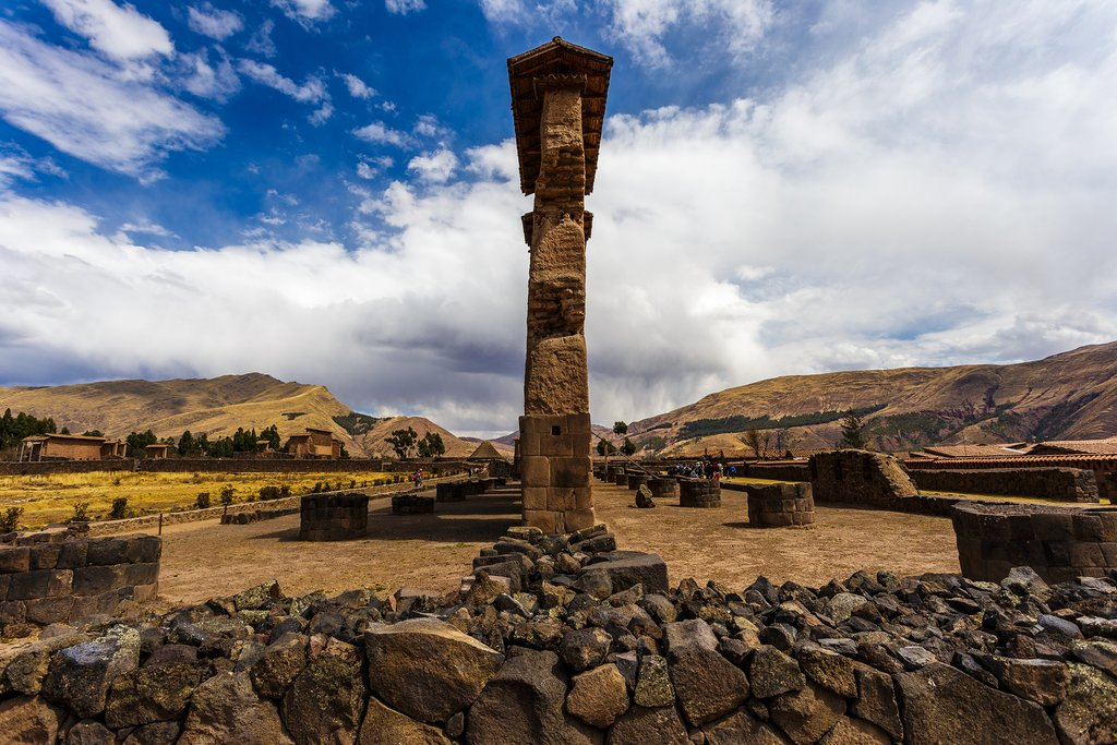 Raqch`i Quechua, or the Temple of Wiracocha, is an Inca site in the Canchis Province, a former road control point