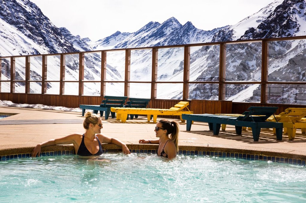Relax in the pool with an Andean backdrop