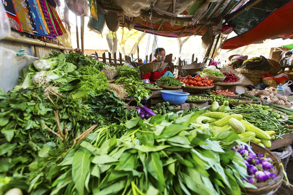 Outdoor market in Bagan