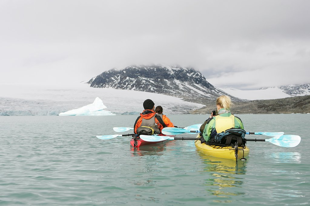 Sea kayaking in winter is warmer than you think thanks to the Gulf Stream.