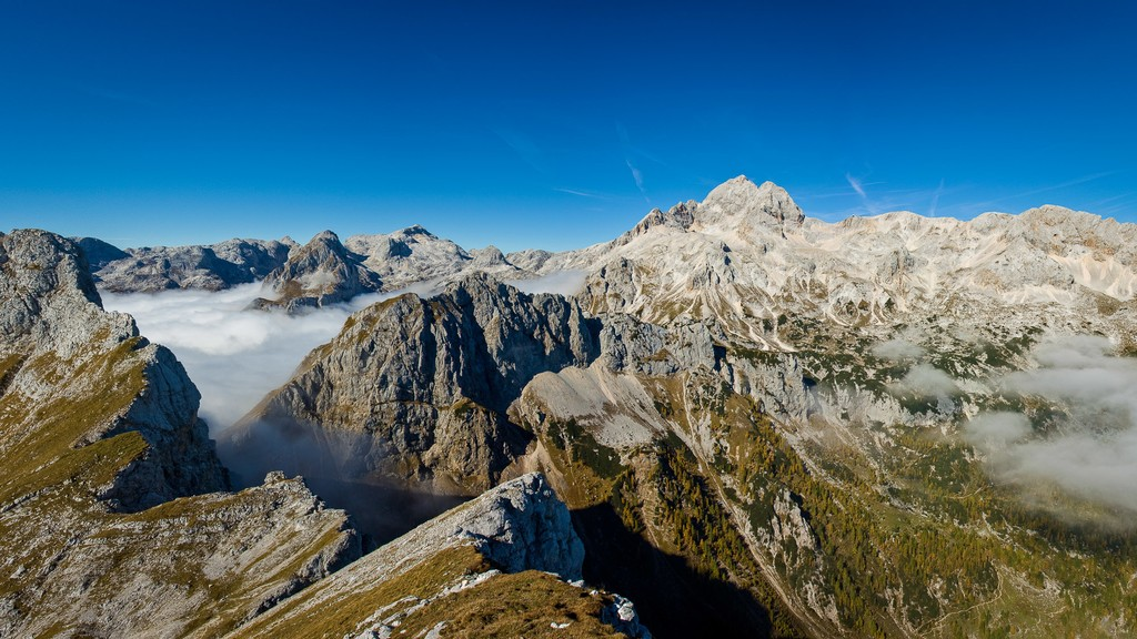 Aerial views of the Slovenian Alps