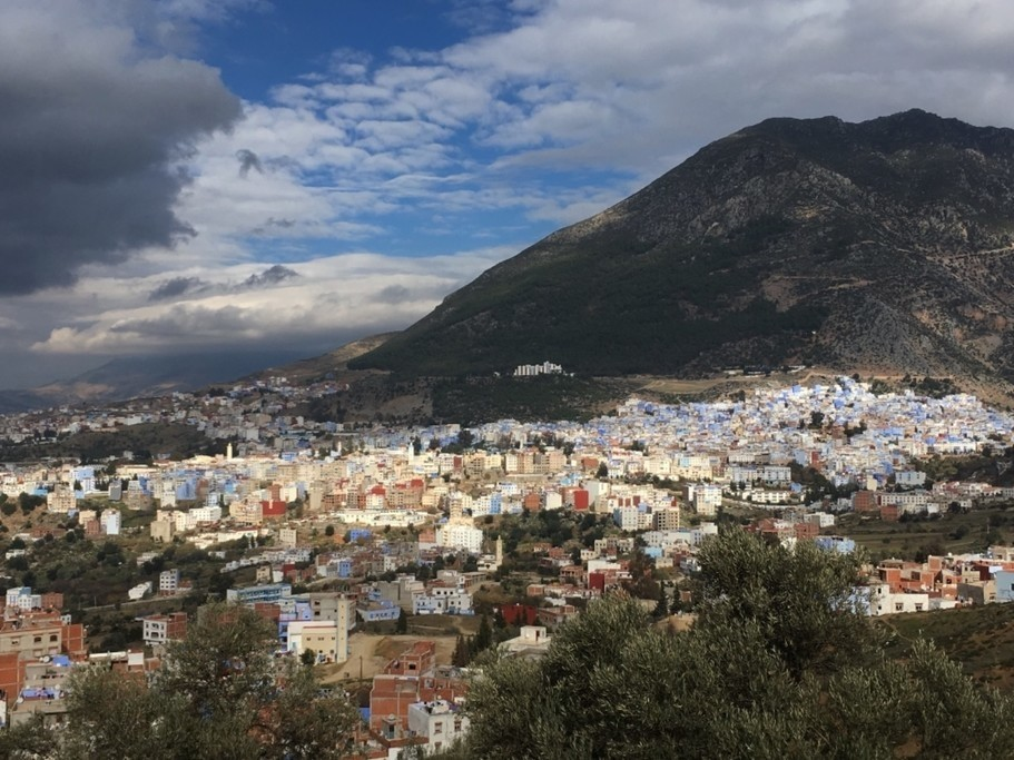 Village of Chefchaouen and the Rif Mountains