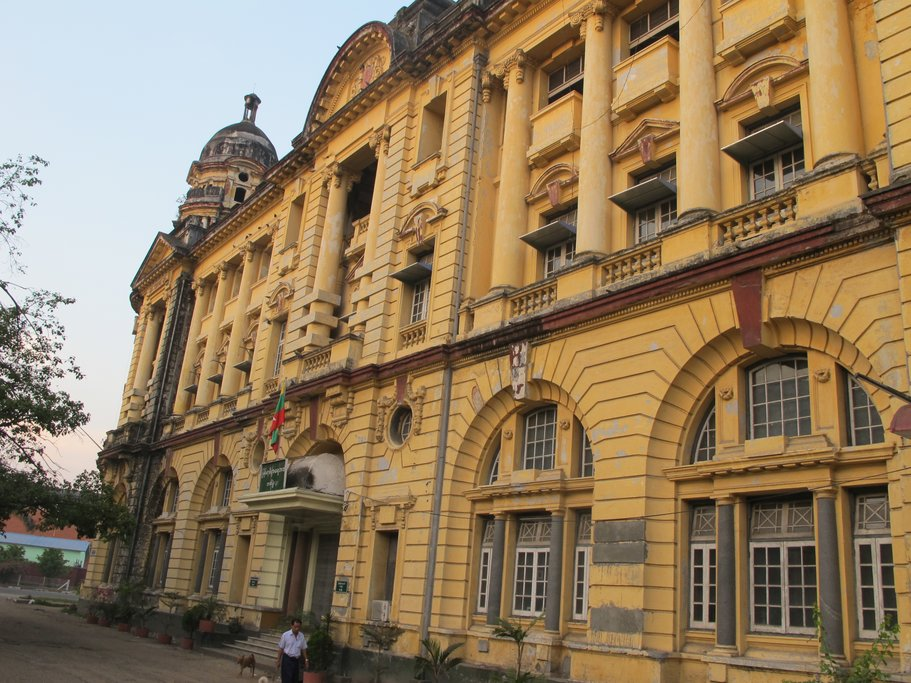 The historic Lawkanawt Building in downtown Yangon