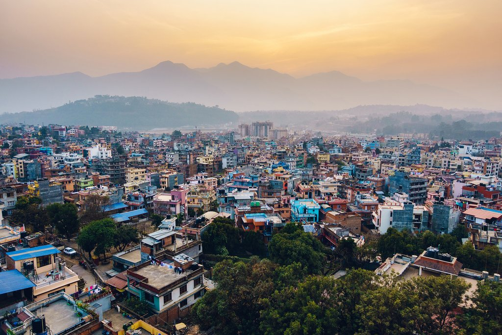 Sunrise views over Kathmandu