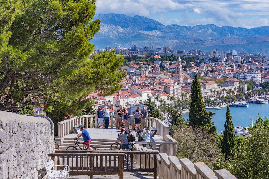 Scenic view of Split from the famous Marjan hill