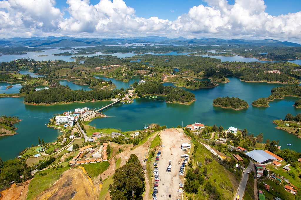 View from the Rock of Guatape in Medellín