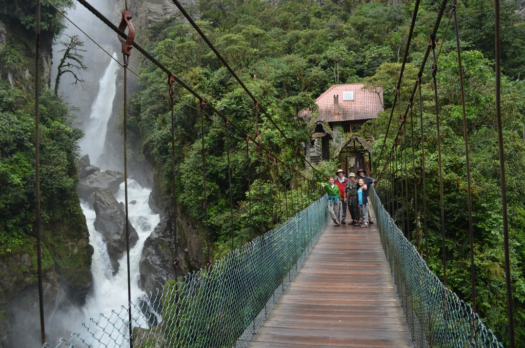 The Pailon del Diablo is the second highest waterfall in Ecuador and a tourist destination for many families