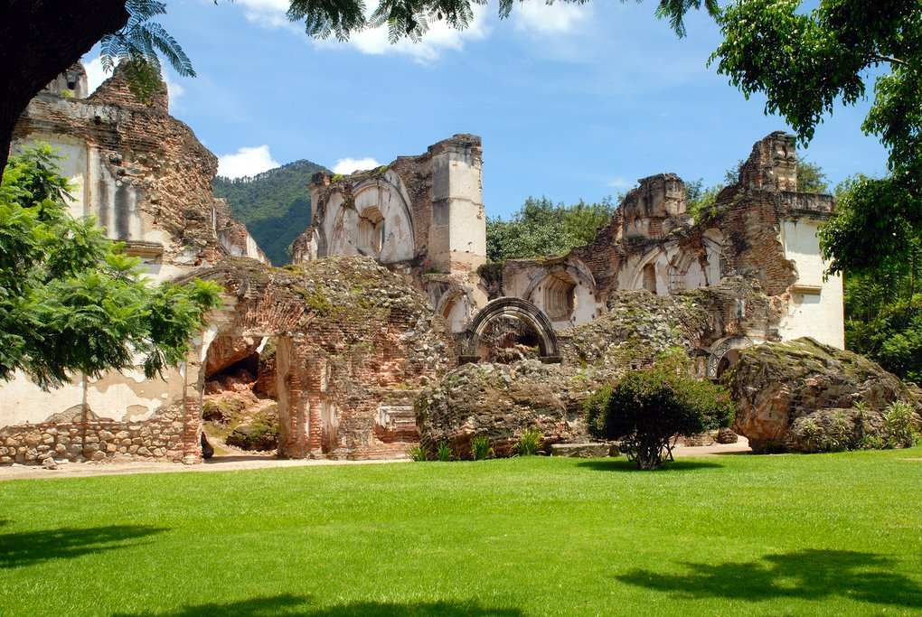 Church ruins Guatemala