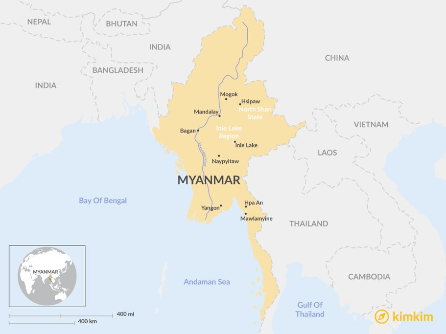 Myanmar overview Map