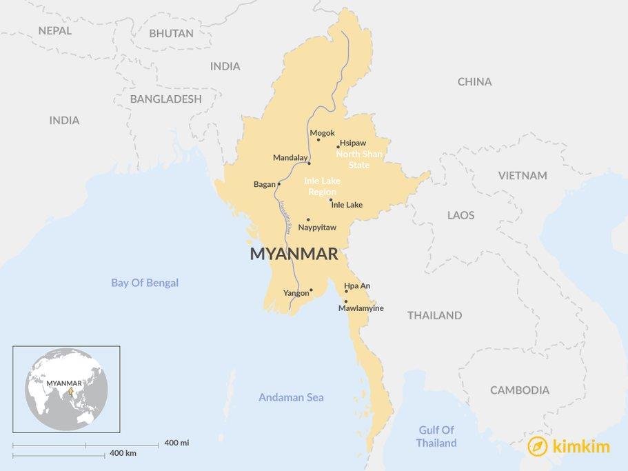 Myanmar overview Map