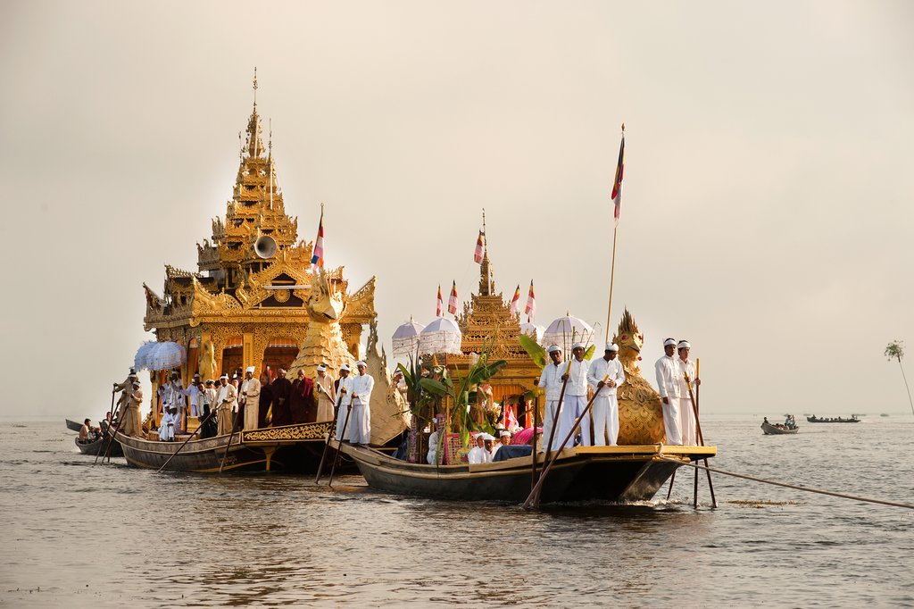 One of the biggest festivals in Myanmar, the Phaung Daw Oo festival