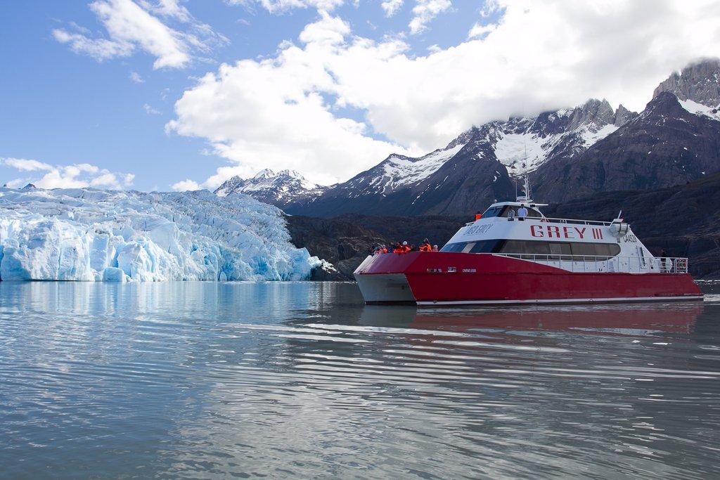 Catamaran at Grey Lake.