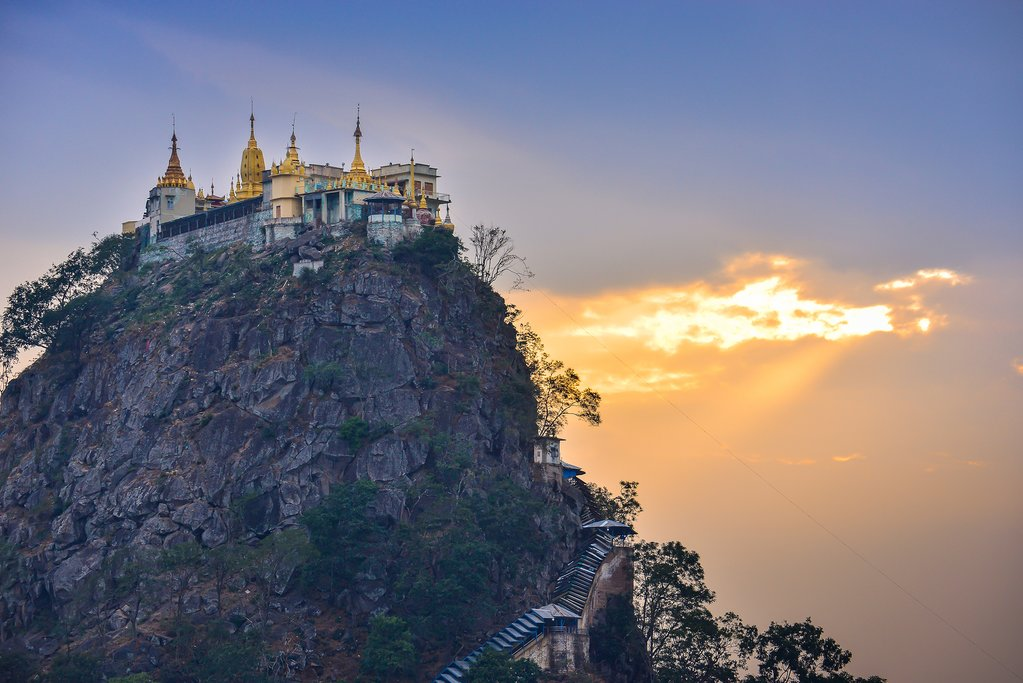 Dawn from Mount Popa