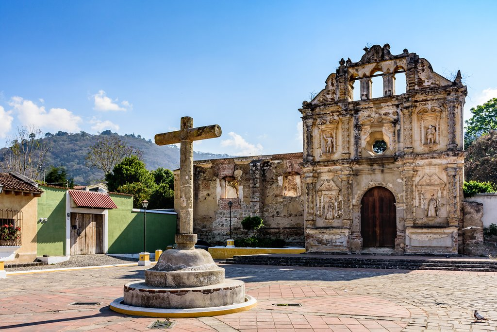 Church ruins outside Antigua, Guatemala