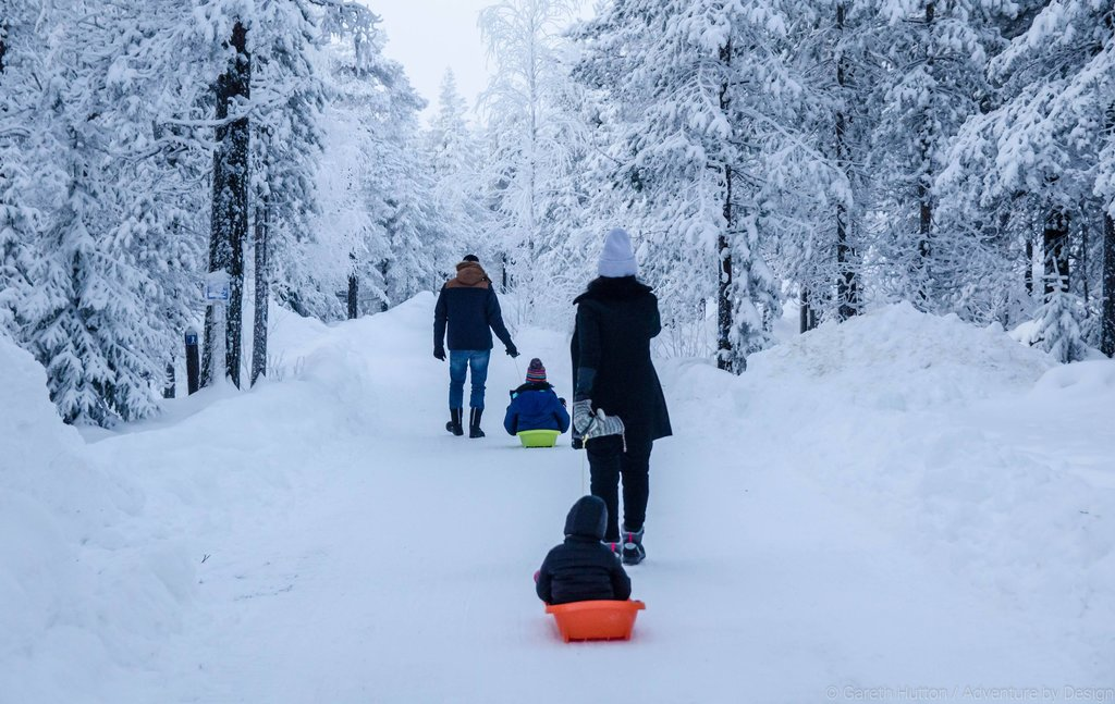 There are plenty of activities on offer in this winter wonderland