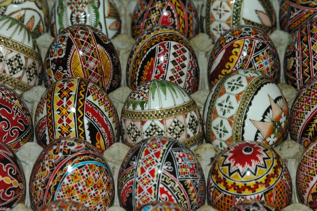 The Hutsuls are known for their intricately painted eggs