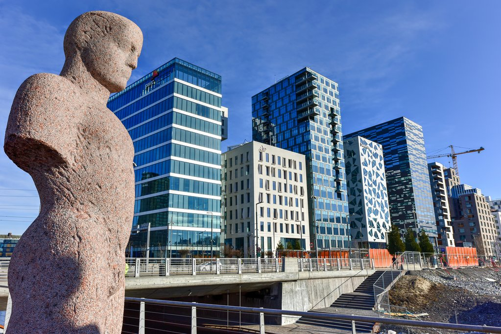 Oslo's up-and-coming neighborhood.