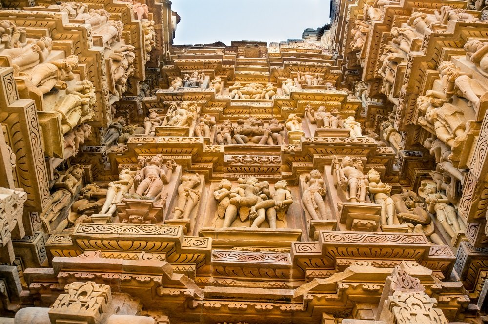 The intricate and erotic carvings on the temples are unparalleled in their detail