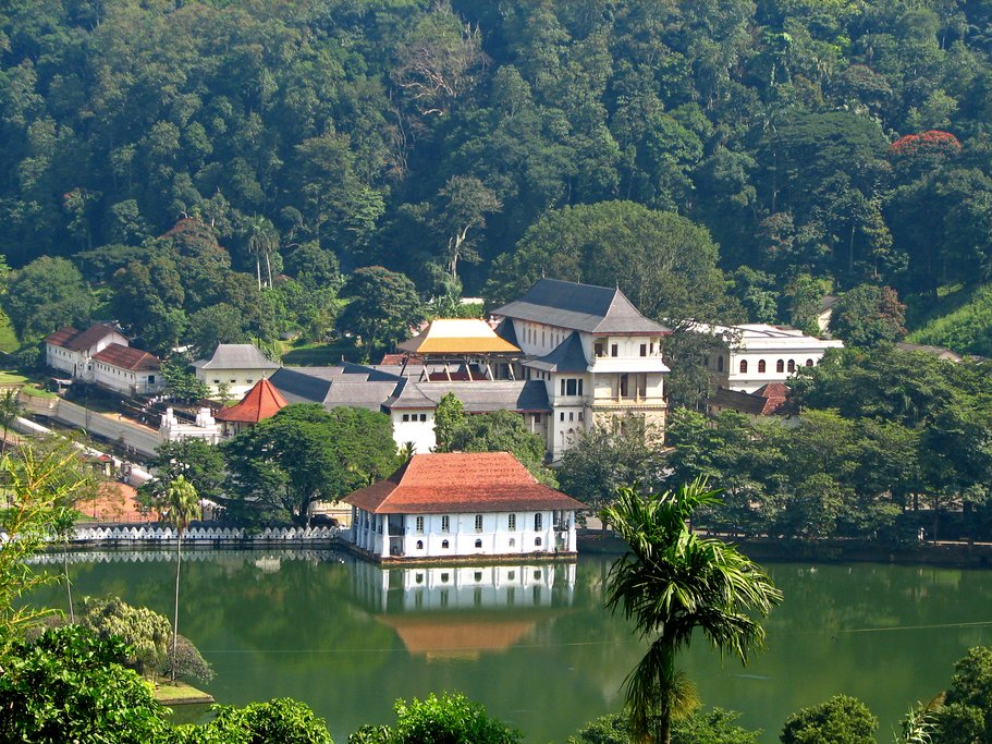 The ancient capital of Kandy is home to the famed Temple of the Tooth Relic.