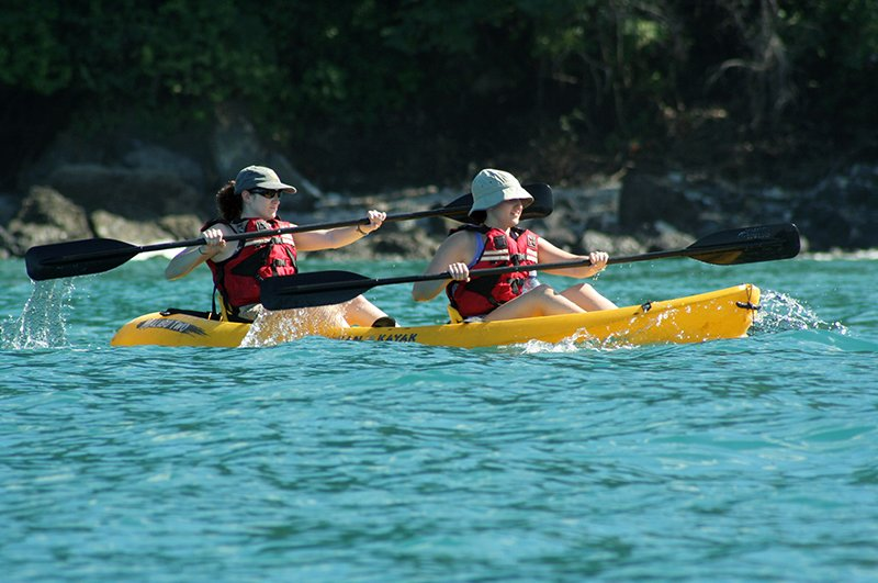 Sea kayaking near Manuel Antonio National Park