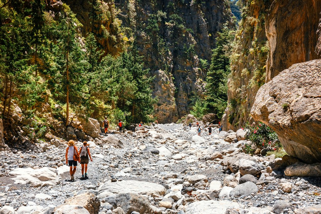 Hiking Samaria Gorge on the island of Crete