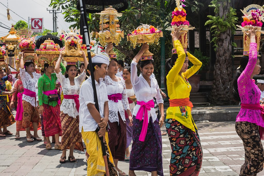 Balinese ceremony procession