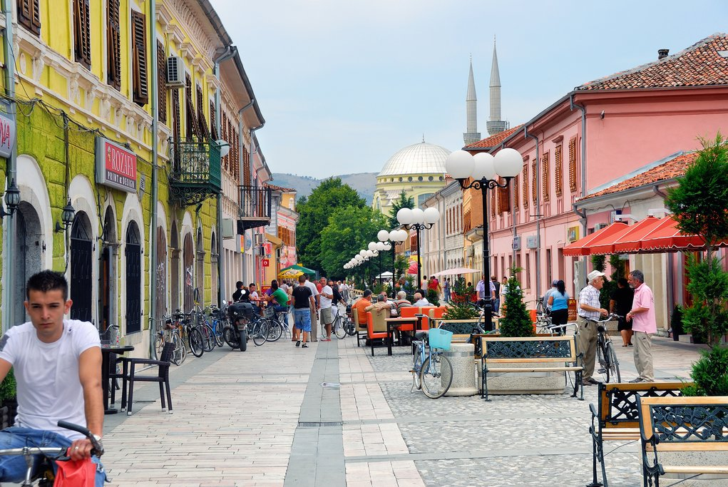 City of Shkodër with Ebu Bekr Mosque in the background