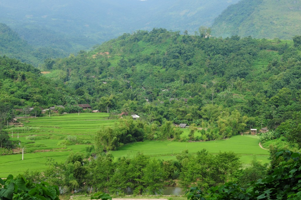 The countryside of northern Vietnam