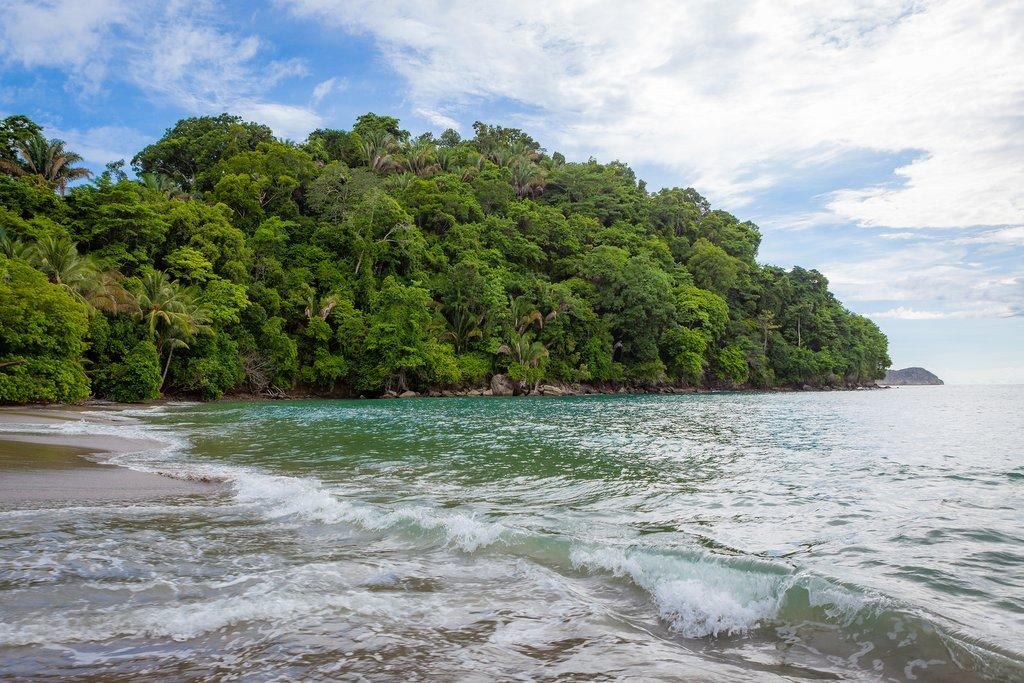A beach in Manuel Antonio National Park