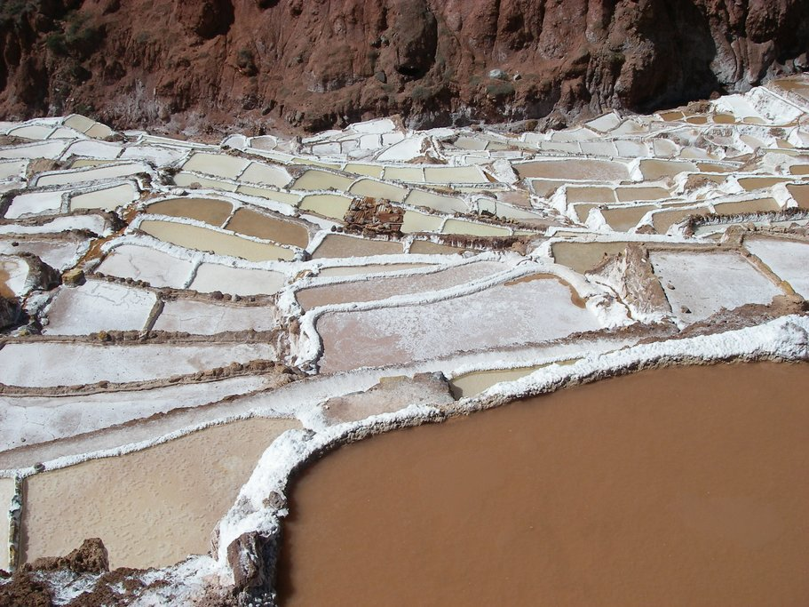 The ancient method of mining for salt involves the use of terraces that built into the side of the mountain